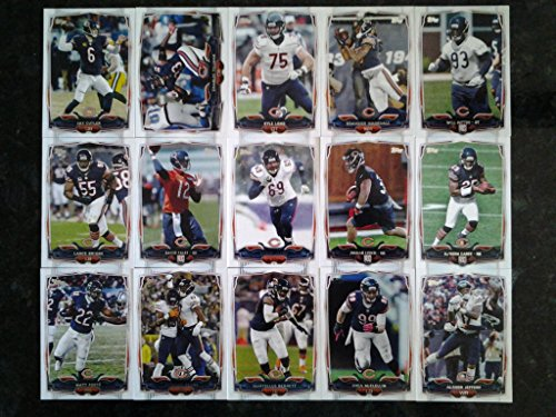2014 Topps Football Chicago Bears Team Set In A Protective Case   15 Cards Including Charles Tillman  Jay Cutler  Brandon Marshall  Kyle Long  Martellus Bennett  Matt Forte  Shea Mcclellin  Lance Briggs  Jared Allen  Alshon Jeffery  Jordan Lynch Rc  Will Sutton Rc  Kadeem Carey Rc  David Fales  And A Team Card