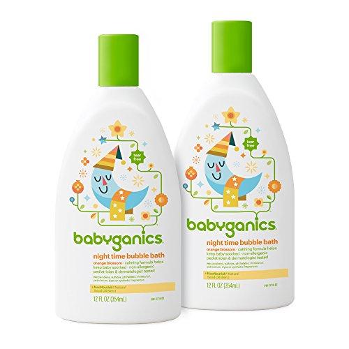 Bath Blossom Natural (Babyganics Baby Bubble Bath, Orange Blossom, 12oz Bottle, (Pack of 2))