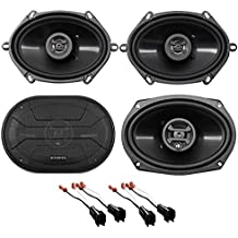 Front+Rear Hifonics Speaker Replacement Kit For 1998-2011 Ford Crown Victoria