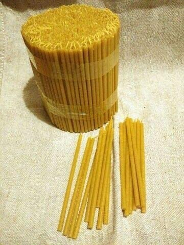 7 inches Beeswax Candles with Cotton Wick and Natural Honey Scent 1101420 MHH 60-Pack Pure Natural Honey Scented Beeswax Candles Organic eco-Friendly Wax tapers for Everyday use