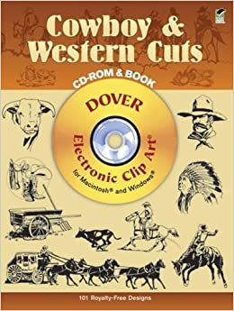 Book Cowboy and Western Cuts (Dover Electronic Clip Art)