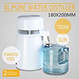 CNCShop Water Distiller Water Distillation Purifier All Stainless Steel Internal 4L Purifier Filter Effective