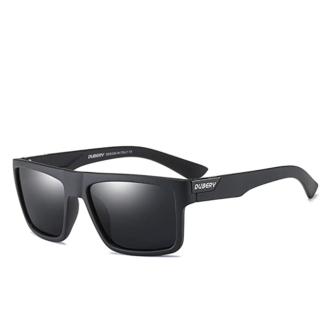 8f21476033 DUBERY Mens Sport Polarized Sunglasses Outdoor Riding Square Windproof  Eyewear ( 1)