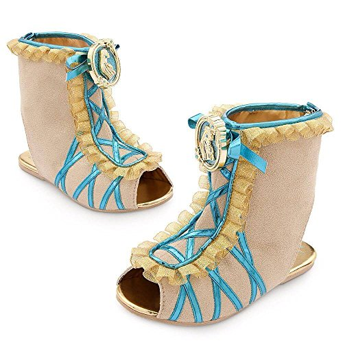 DISNEY STORE POCAHONTAS COSTUME INDIAN SHOES GIRLS HALLOWEEN FALL 2015 (Pocahontas Costume Shoes)
