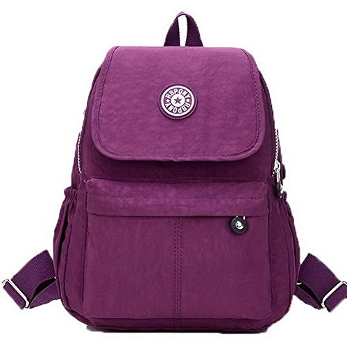 Hand Zippers Purple Bags Nylon Allhqfashion Casual Women Shoulder Bags Formal OXq0xqCEw