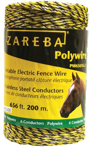 Six Fences (Zareba PW656Y6-Z Polywire 200-Meter 6-Conductor Portable Electric-Fence Rope)