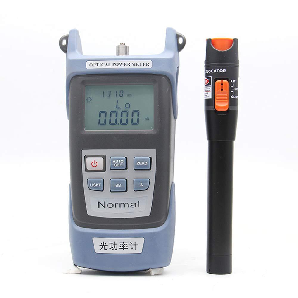 Leepesx Kit de herramientas de fibra /óptica Autocalibraci/ón Medidor de potencia /óptica 10MW Pluma de prueba del localizador de fallas visuales