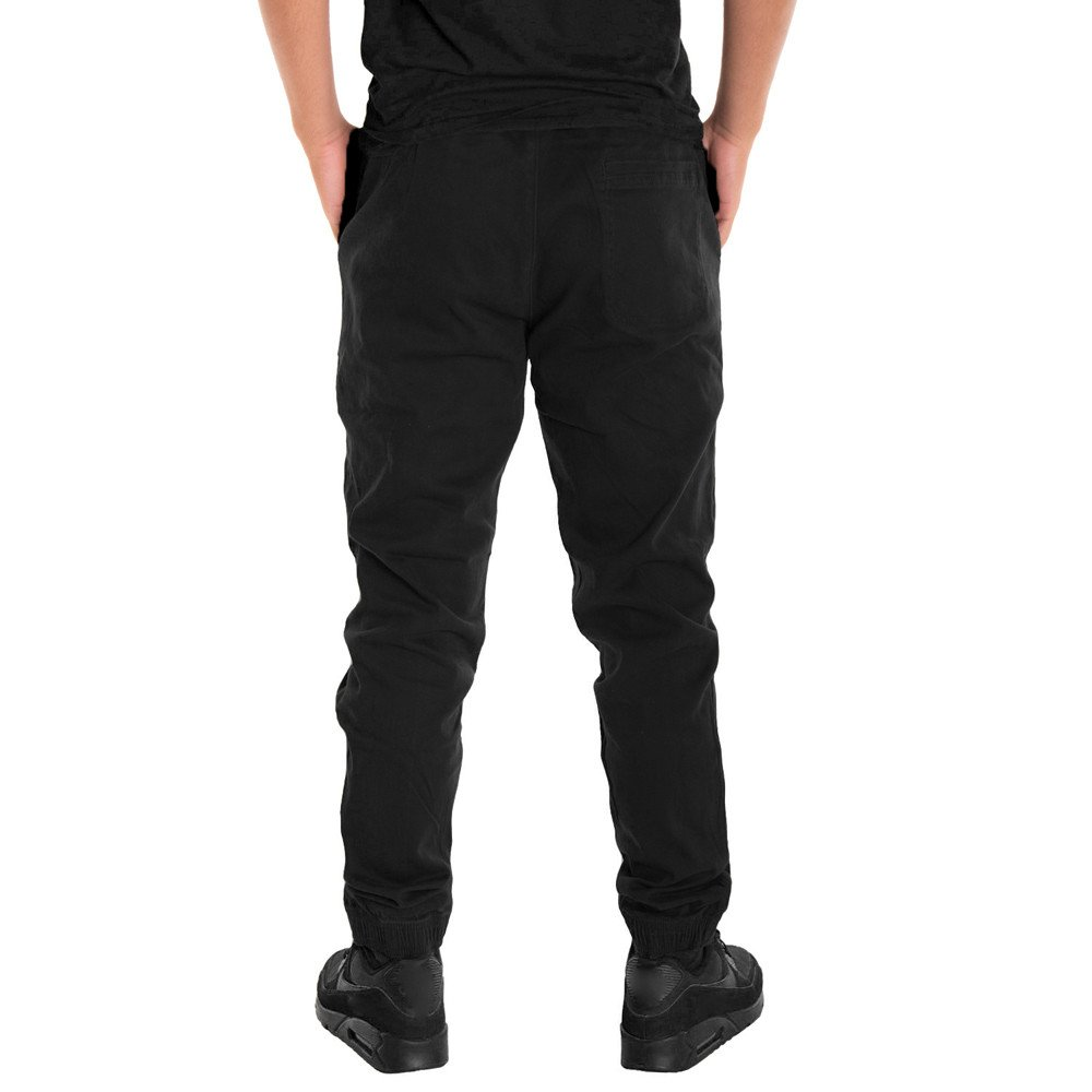 Tanhangguan Mens Jogger Pants Cotton Twill Slim Fit Sweatpants Casual Sports Trousers Pants With Pockets Clearance//On Sale
