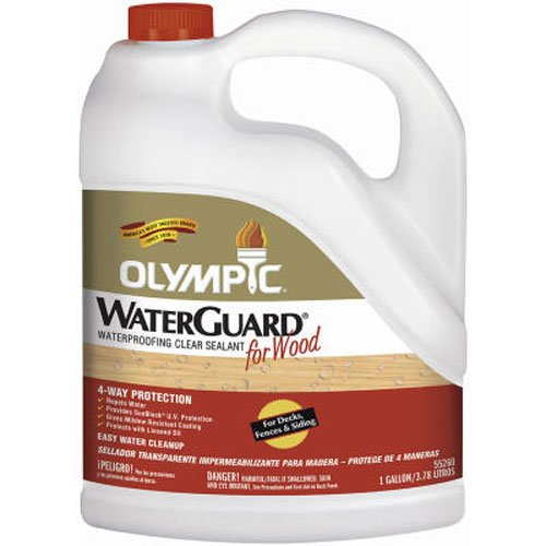 Olympic Stain Waterguard Waterproofing Sealant for Decks, Fences, and Siding, Clear, 1-Gallon