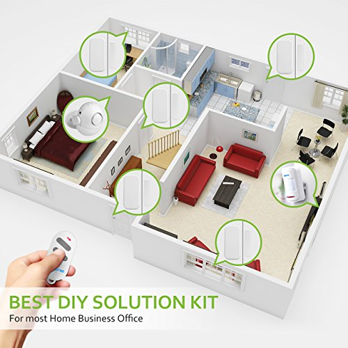 wifi home security alarm system diy kit with easy app 2in1 pir main panel0120db 3modes for ios android smartphone with alexa echo control pir motion