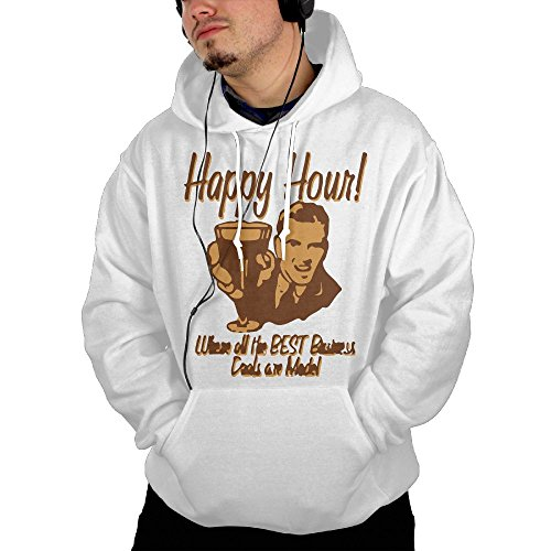 ZhiqianDF Mens Happy Hour Where The Best Business Deals Are Made Fashion Hiking White Fleeces XXL With - Stanford Hours