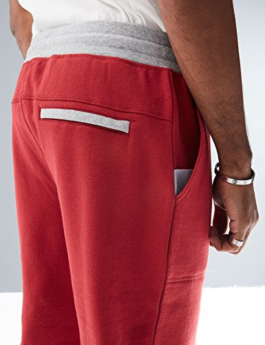 Rebel Canyon Young Men's Slim Fit Contrast Waistband Front Pocket Jogger Sweatpant
