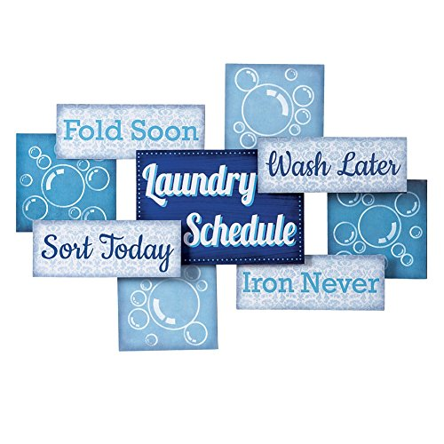 Laundry Room Schedule Novelty Hanging