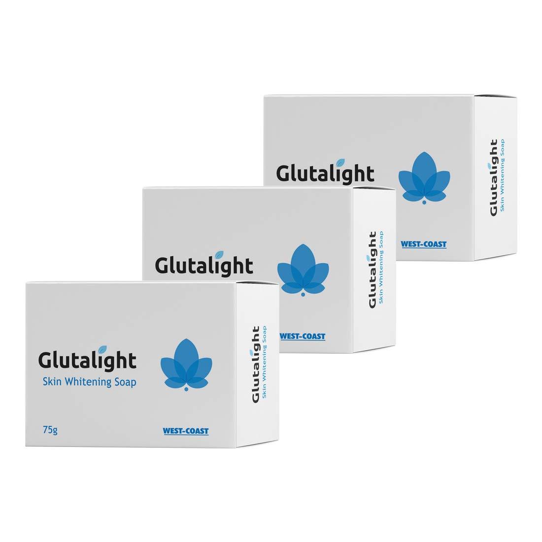 Glutalight Skin Lightening Soap For Reduce Freckles, Age Marks, Acne Spots – 75gm (Pack of 3)