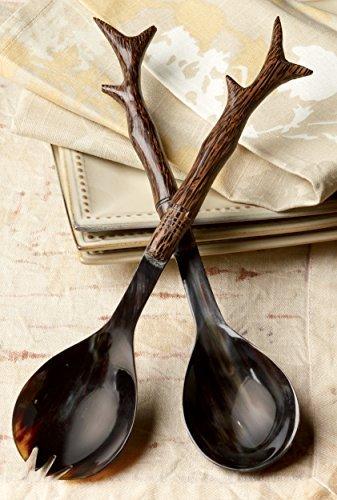 Wood Branch & Horn Serving Set by KINDWER
