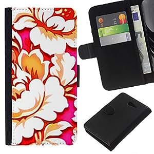 Wallpaper Arte Begonia Flor Bloom- la tarjeta de Crédito Slots PU Funda de cuero Monedero caso cubierta de piel Para Sony Xperia M2