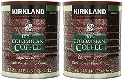Signature 100% Colombian Coffee Supremo Bean Dark Roast-Fine Grind, 6 Pound,Signature-ykgj
