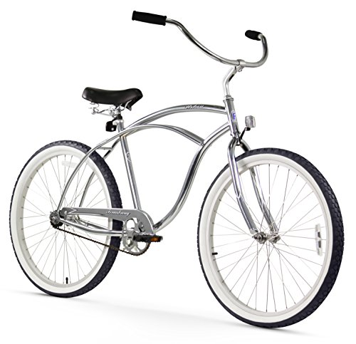 Firmstrong Urban Man Single Speed Beach Cruiser Bicycle, 26-Inch, Chrome For Sale