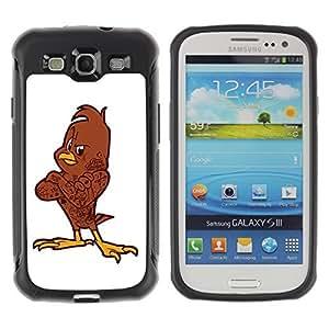 Hybrid Anti-Shock Defend Case for Samsung Galaxy S3 / Cool Bird