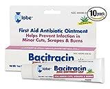 Bacitracin Zinc with Aloe 1 oz Tube (Pack of 10)
