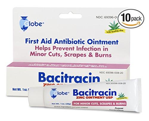 Bacitracin Zinc with ALOE 1 oz Tube (Pack of 10) ()