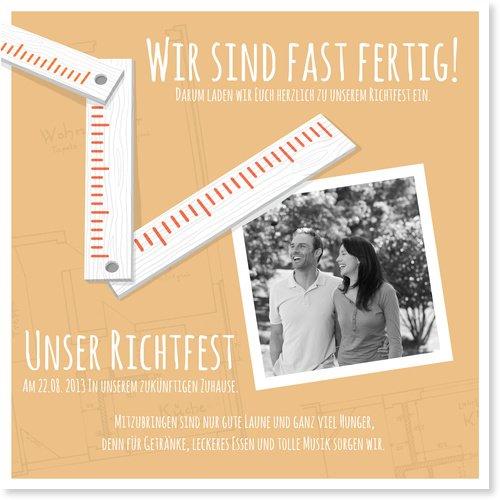 Einladungskarten Richtfest Von Wunderkarten: Amazon.de: Bürobedarf U0026  Schreibwaren