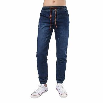 Pantalones cortos hombre Pantalones casuales Denim retro ...