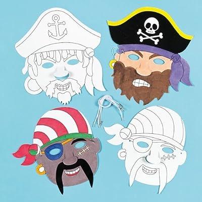 Baker Ross Caretas Máscaras de Pirata para Colorear ...