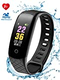 Coolhills Fitness Tracker HR, IP68 Waterproof Bluetooth Activity Bracelet Heart Rate Wristbands with Pedometer Step Counter Calorie Burned Sleep Monitor Smart Watch for Men,Women,Android & iOS