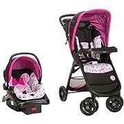 Disney Baby Amble Quad Travel System, Pink Minnie Garden