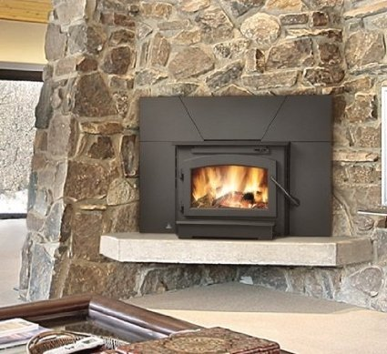 "Timberwolf Economizer Series EPI22 25"""" Natural Vent Wood Burning Fireplace Insert with Up to 65 000 BTU"