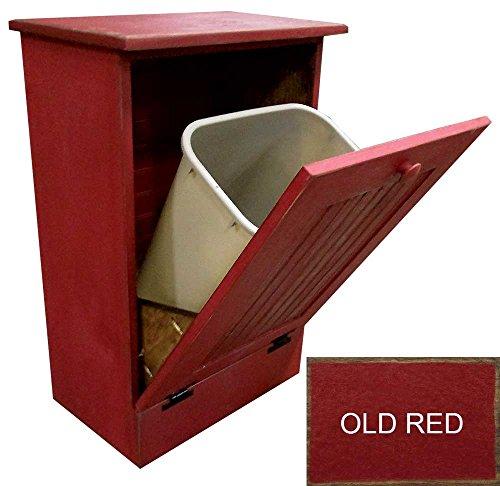 kitchen trash bin wooden - 3