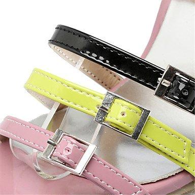 LvYuan Tacón Stiletto-Innovador Zapatos del club-Sandalias-Oficina y Trabajo Vestido Informal-Cuero Patentado-Rosa Beige beige