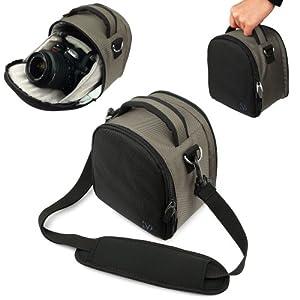Amazon.com : Vangoddy designed Silver Small DSLR & SLR Camera Bag ...