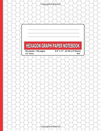 pdf  hexagon graph paper notebook