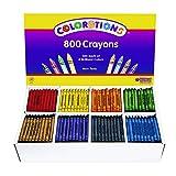 Colorations Regular Crayons - 8 Colors, Set of 800 (Item # CRRGS)