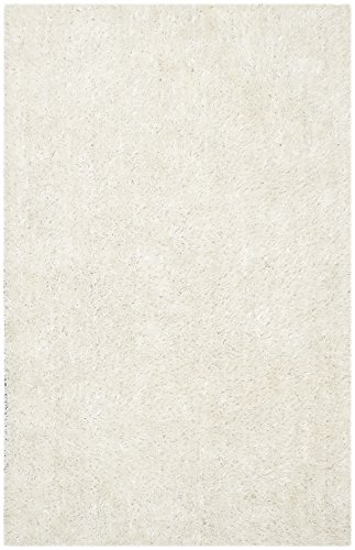 Off White Contemporary Rug (Safavieh New Orleans Shag Collection SG531-1111 Off-White Polyester Area Rug (4' x 6'))