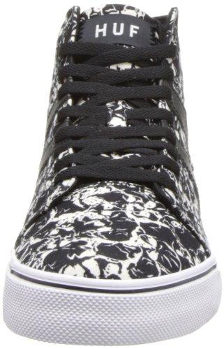 Huf Mens Hupper Skateboard Shoe Black Skull