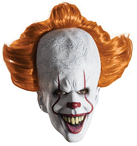 Rubie's Men's IT Costume, 2017 Version, (Pennywise Clown Mask Costume)