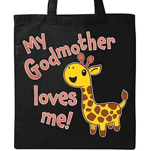 Inktastic - My Godmother Loves me- cute giraffe Tote Bag Black 34e80