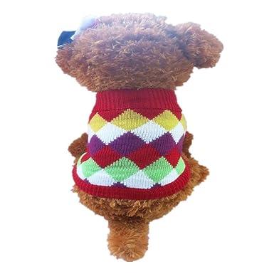 Ropa para Mascotas,Dragon868 Cool Invierno Caliente suéter de Punto Cachorro Mascotas Perro Gatos Abrigo Chaquetas: Amazon.es: Ropa y accesorios