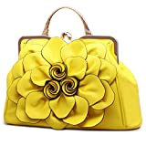 9156huang Women's Evening Clutches Handbags Wallets Wedding Totes Crossbody Bags