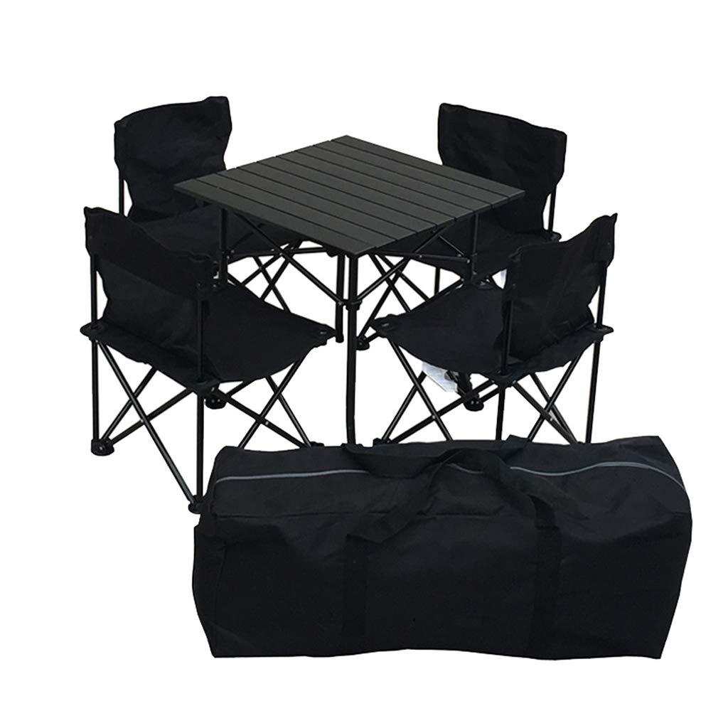 テーブルと椅子、屋外の折りたたみ式テーブルと椅子、携帯用キャンプテーブルと椅子、自動車の自動運転ツアー、超軽量コンビネーションシート、ピクニックバーベキューセット、ファッション、安全性、快適さ、換気、家庭用レジャーテーブルと椅子 Qiuoorsqurp   B07R44DZSY