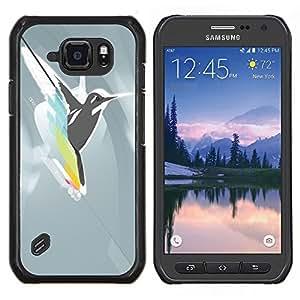 TECHCASE---Cubierta de la caja de protección para la piel dura ** Samsung Galaxy S6 Active G890A ** --Pájaro abstracto Colibrí Fly