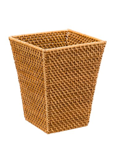 KOUBOO Square Waste Basket, Rattan, Honey Brown (Basket Square Waste)