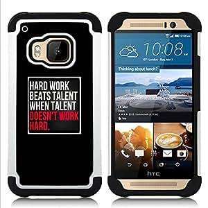 For HTC ONE M9 - hard work talent inspiring black pink Dual Layer caso de Shell HUELGA Impacto pata de cabra con im????genes gr????ficas Steam - Funny Shop -