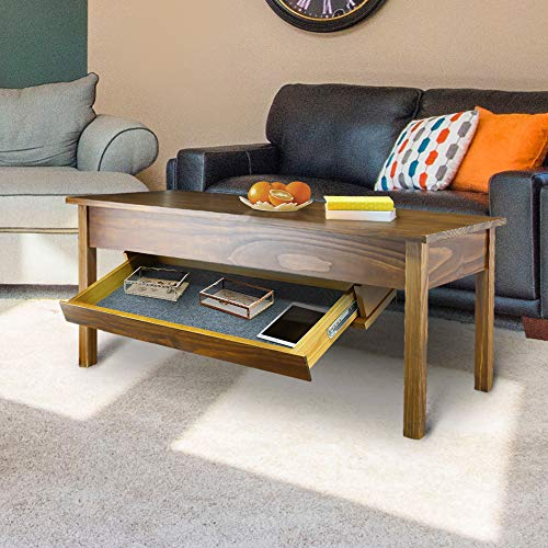 Casual Home 615-25 Kennedy Coffee Table  with Concealed Drawer, Concealment Furniture, Warm Brown by Casual Home (Image #1)