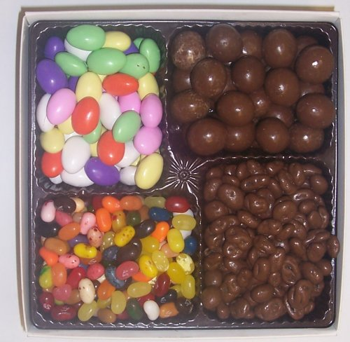 Scott's Cakes Large 4-Pack Chocolate Jordan Almonds, Chocolate Malt Balls, Chocolate Raisins, & Assorted Jelly Beans