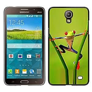 EJOY---Cubierta de la caja de protección para la piel dura ** Samsung Galaxy Mega 2 ** --Divertido Acrobacia selva Rana