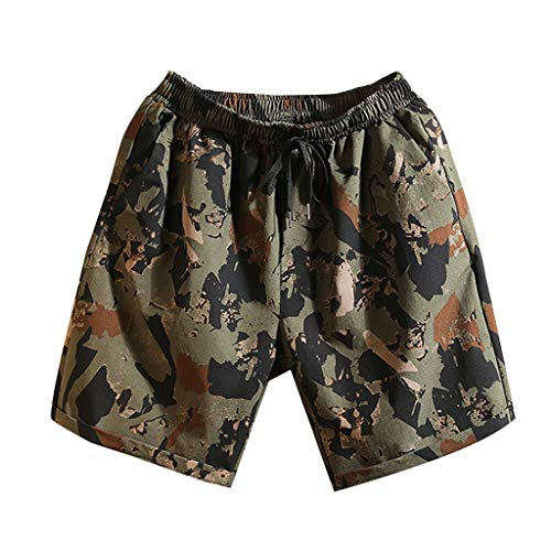 Allywit Mens New Swim Trunks Camouflage Print Graphic Casual Athletic Beach Short Pants
